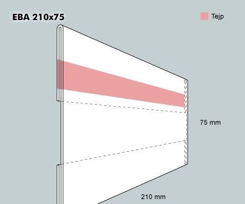 Etiketthållare EBA 210-75F