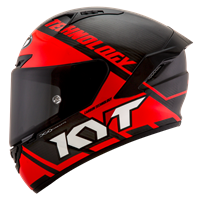 KYT NX RACE - Carbon Race-D Red Fluo