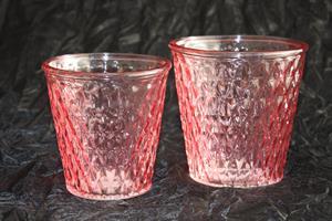Glaskruka Stina rosa olika storlekar