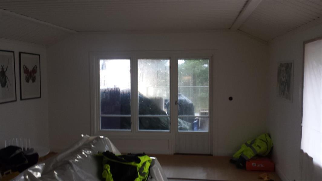 Före byte av fönster och dörr till skjutdörr