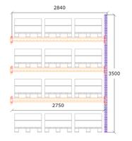 Följdsektion h:3500 b:2750 mm 3 nivåer