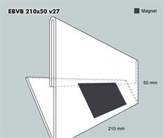 Etiketthållare EBVB 210-50F vinklad 27°