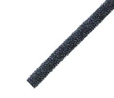 Ventilfyll 230x17x17 mm sort - 1 stk