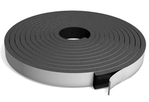 Cellegummi strips 30x12 mm sort m/lim - Løpemeter