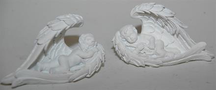 ÄNGEL vit sover i vingar