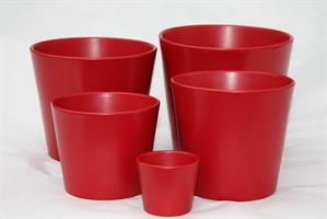 Kruka Stina röd olika storlekar
