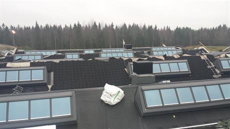 Velux takljusmoduler i Umeå reningsverk