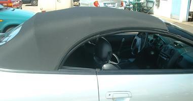 Sufflett Mitsubishi Eclipse 96-99 tyg svart
