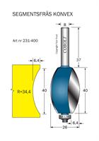 Segmentfräs R=34.4 L=40 F=6.4 S=8
