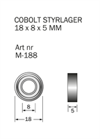 M-188 Kullager 18 x 8 x 5 mm