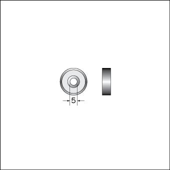 Styrlager 5mm innerdiameter