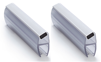 Magnetlist 135 gr. for 8 mm glass, hvit - 1 par
