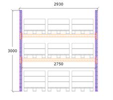 Startsektion h:3000 b:2750 mm 2 nivåer