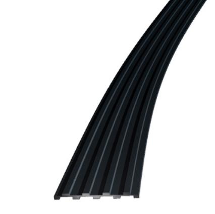 Trinnlydlist 50 x 5 mm sort EPDM - Løpemeter