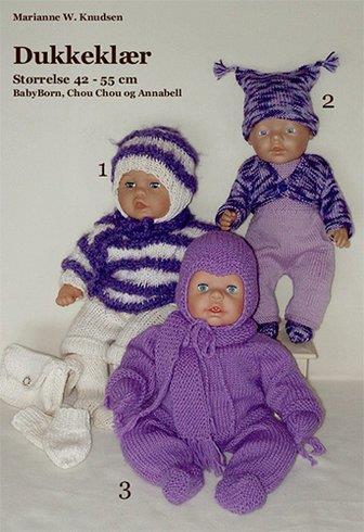 Dukkeklær til babydukke 42-55cm