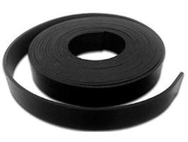 Gummistrips 50x5 mm sort u.lim CR/SBR - Løpemeter