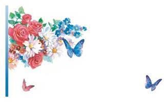 Kort Blommor fjärilar 100/fp
