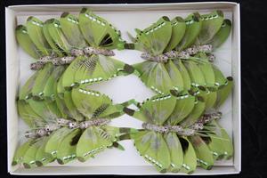 Fjäril ljusgrön 7,5cm 24/fp