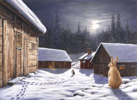 Julkort 195x140 dubbelt med kuvert
