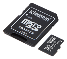 Minne Micro SDHC 32GB Kingston