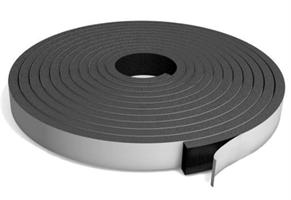 Cellegummi strips 20x20 mm Sort m/lim - 10 meter