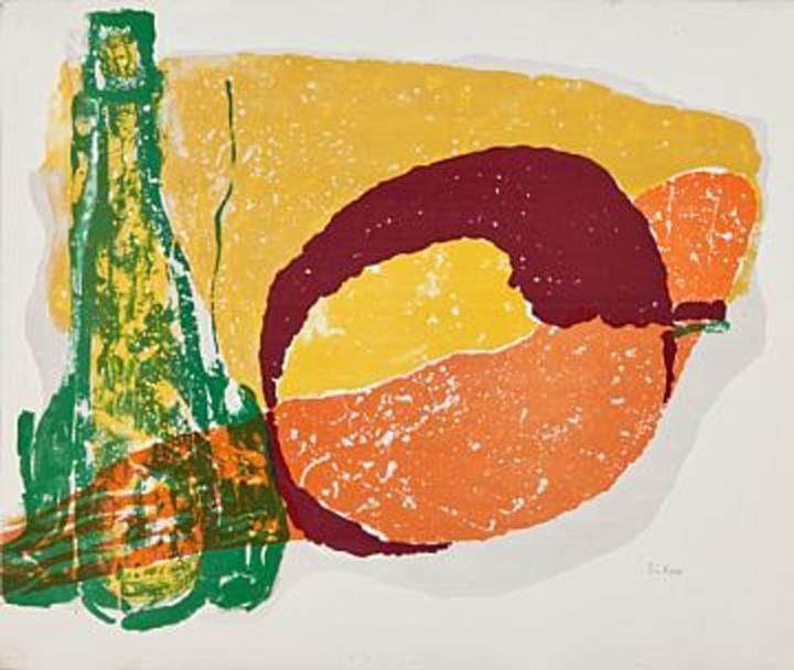 """""""Erotisk eple"""", litografi, 59 x 74 cm."""