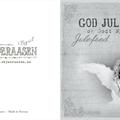 """Dobbelt kort - lite 6,5x6,5cm """"God Jul"""""""