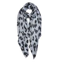 Scarf leopard grå
