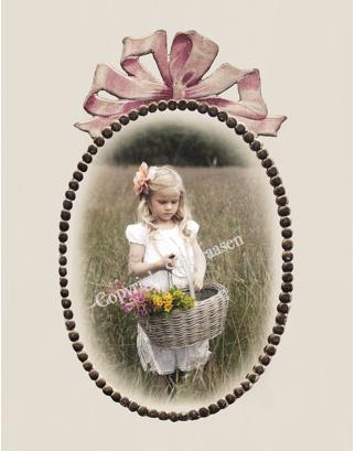 "Postkort ""Linnea oval ramme"""