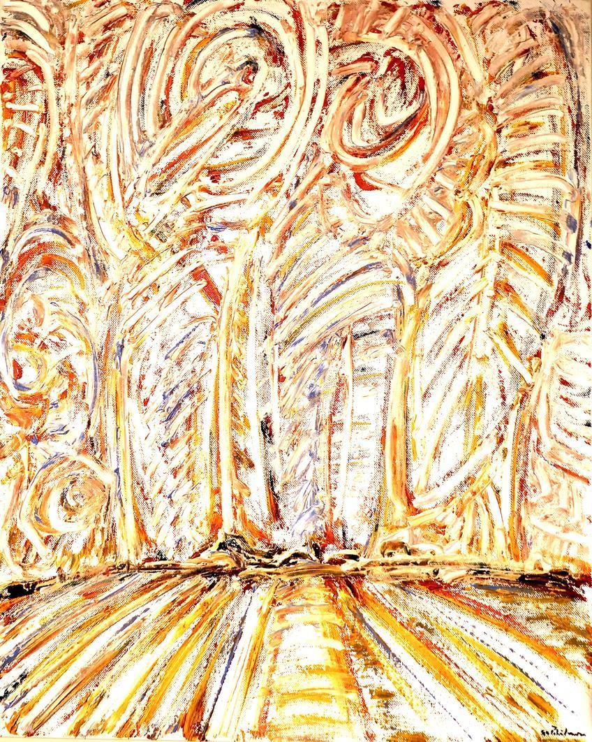 """""""Himmelen over markene"""" oljemaleri  60 x 50 cm."""