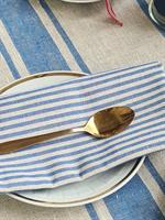 TORA linservietter / bordbrikke blå
