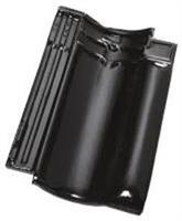 Pottelberg 401 takstein, sort glasert