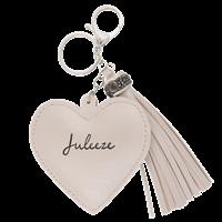 Nyckelring hjärta off white