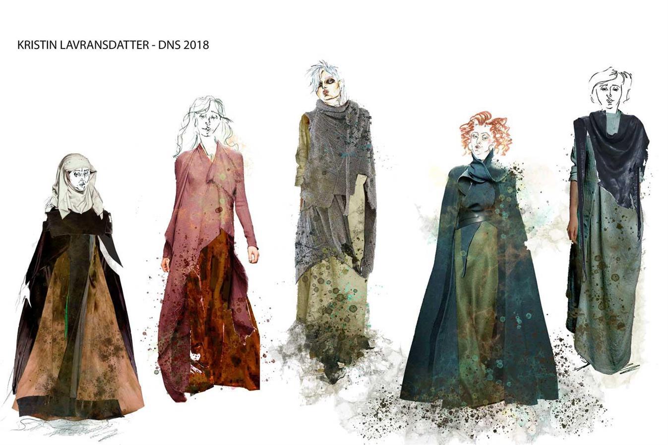 Kristin Lavransdatter - Den Nasjonale Scene - Director: Svein Sturla Hugnes - Costume Design: Christina Lovery