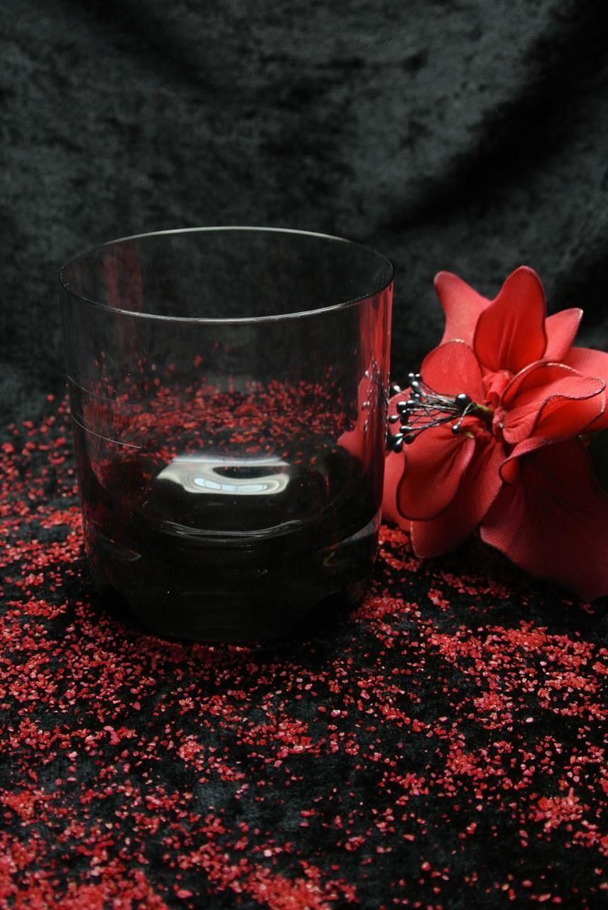 G661 Whiskyglas svart
