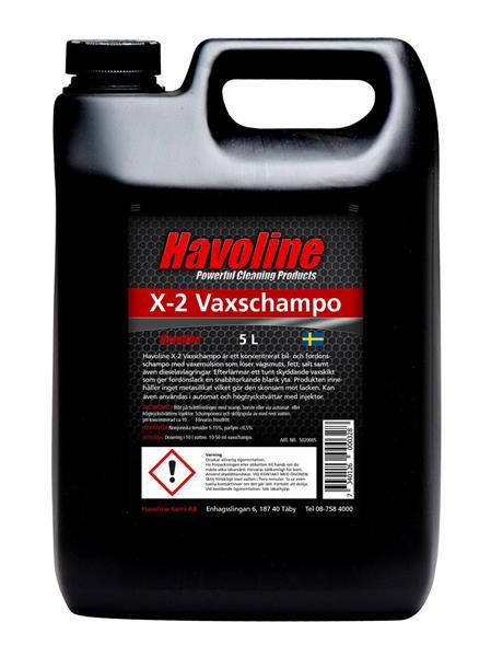 Havoline X-2 Vaxschampo 5 L