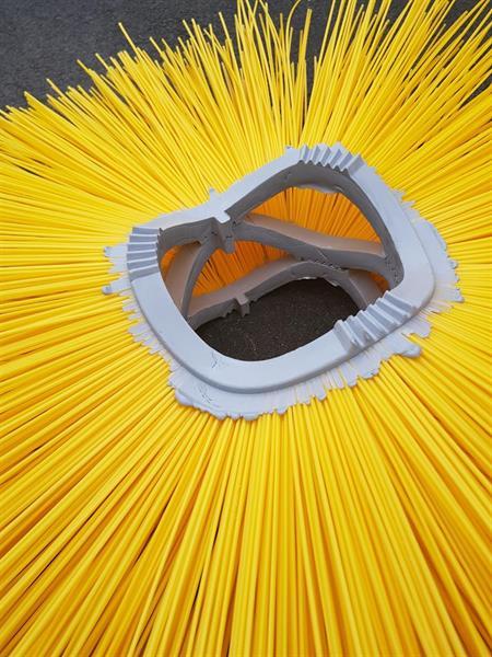 Borstring 900 x 178 Z-Z PP. WaveLine CrownLock. 1 Tapp