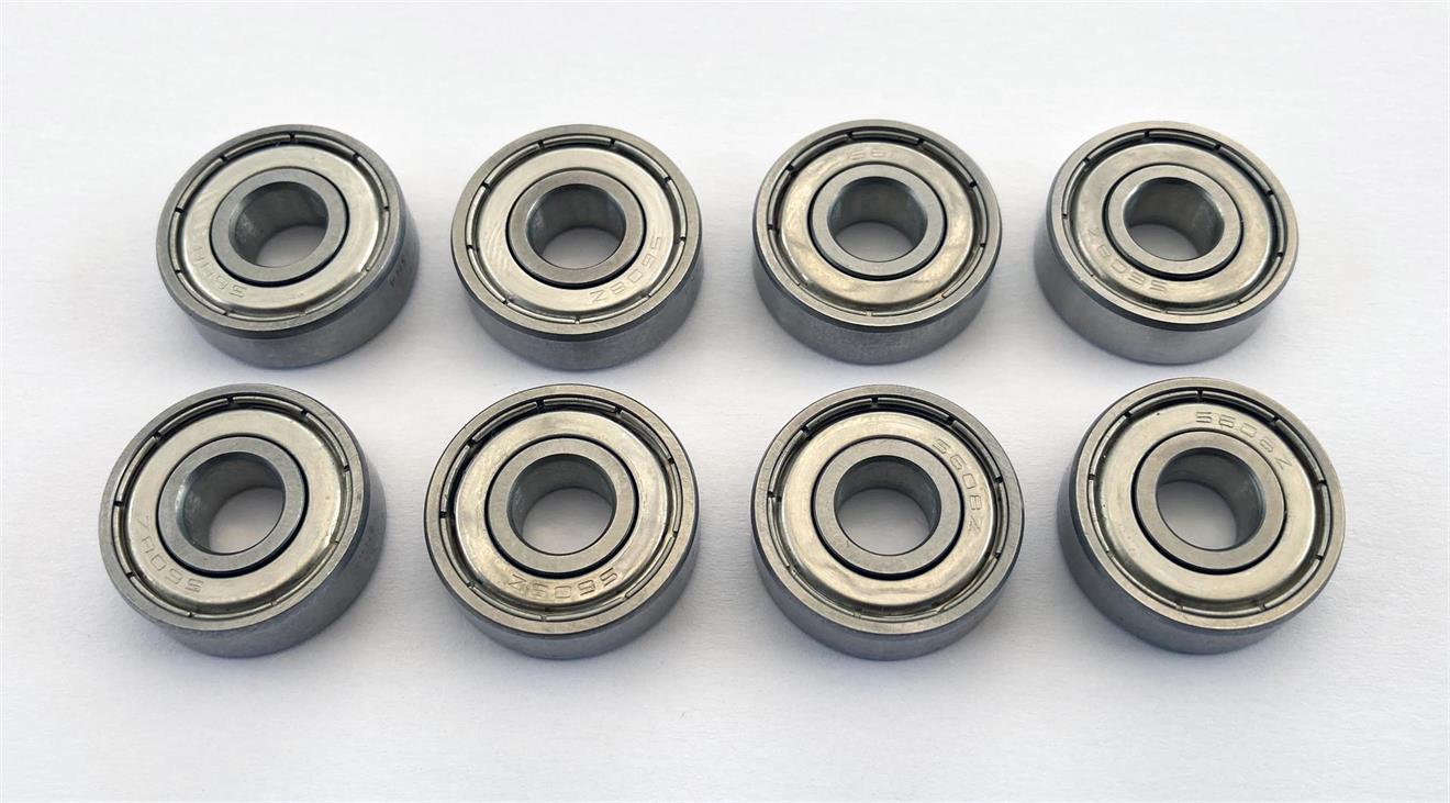 8 st keramiska hybridlager torra HYSS608 2Z AF2