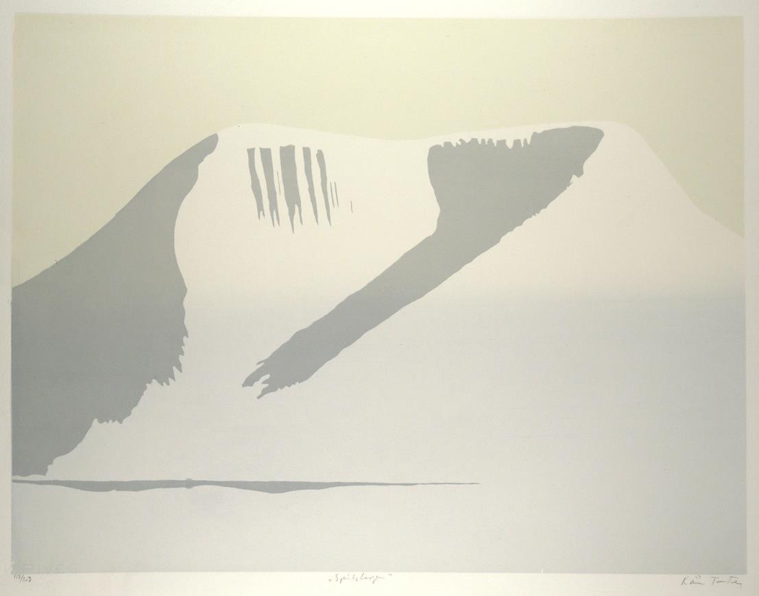 """""""Spitsbergen"""", silketrykk, 49 x 64,5 cm."""