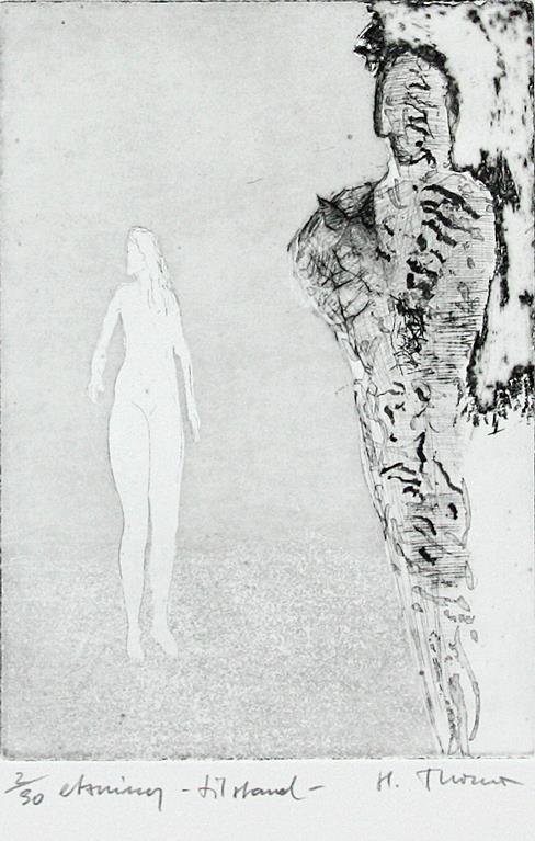 """Tilstand"", etsing 25 x 17,5 cm."