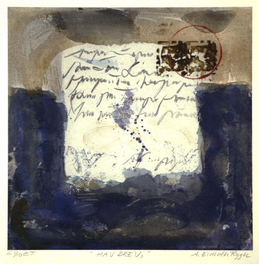 """""""Havbrev"""", litografi"""