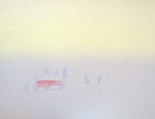 """Påskemorgen"" håndkolorert silketrykk, 50 x 65 cm."