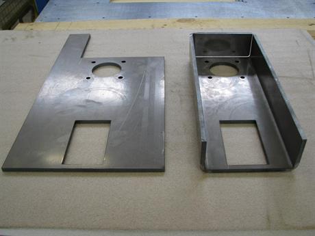 Laserskuren och bockad produkt