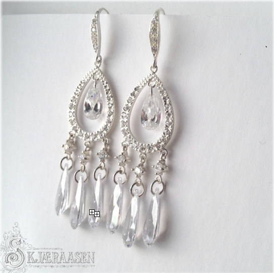 Classy chandelier earrings