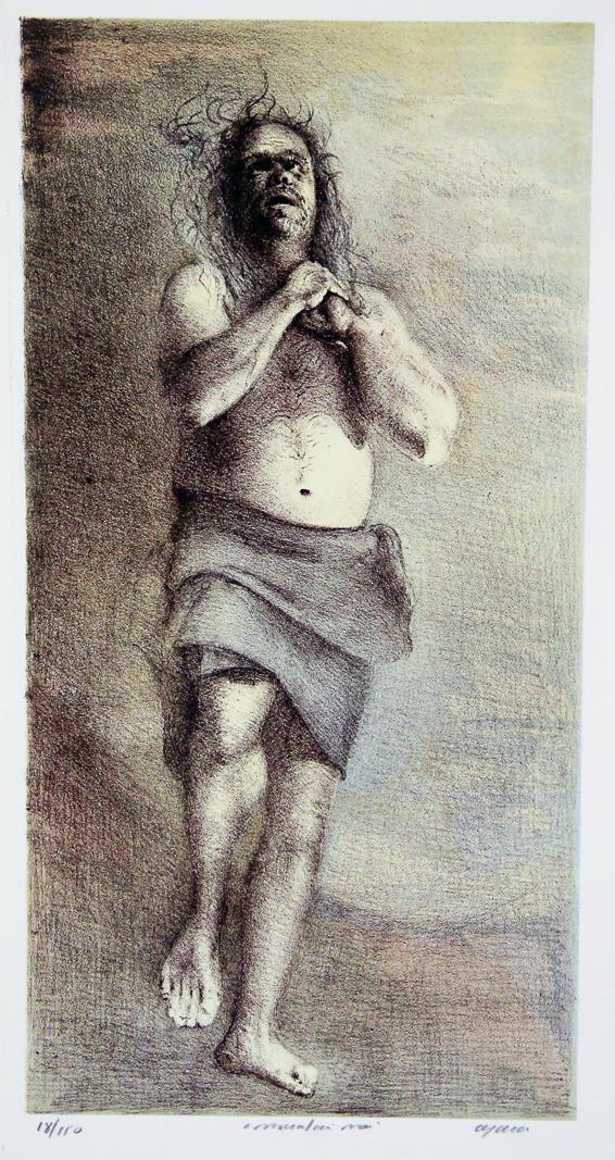 Montan Man litografi 45 cx 232 cm.