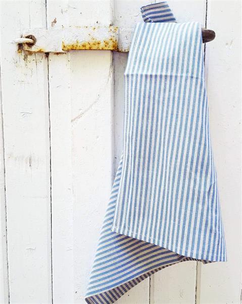 TORA kjøkkenhåndkle i lin blå