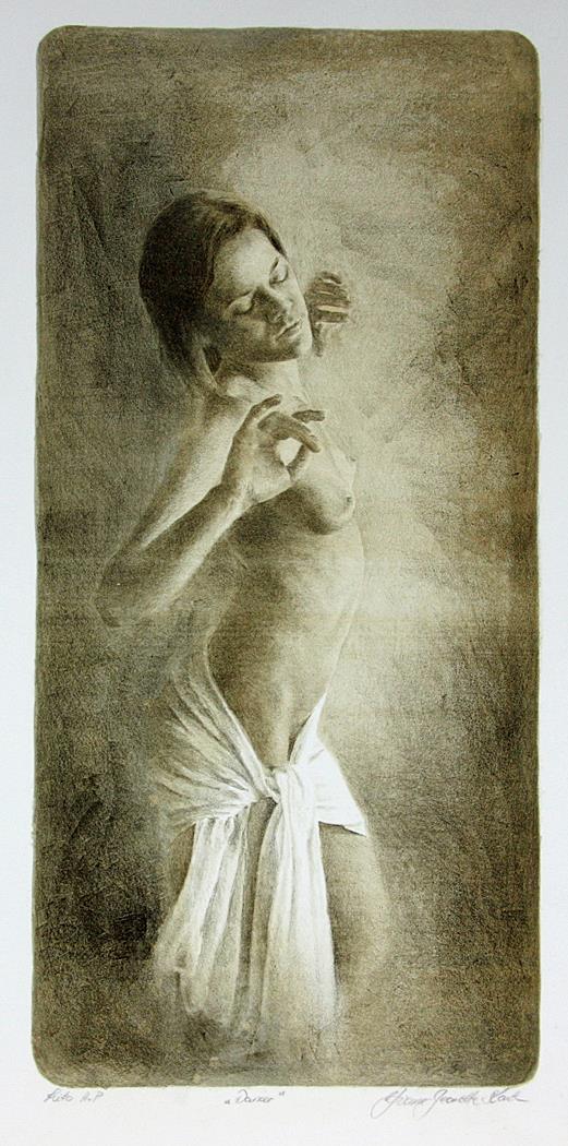 """Dancer"", litografi, 61 x 34 cm."