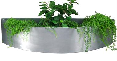 Plain blomlåda - zink