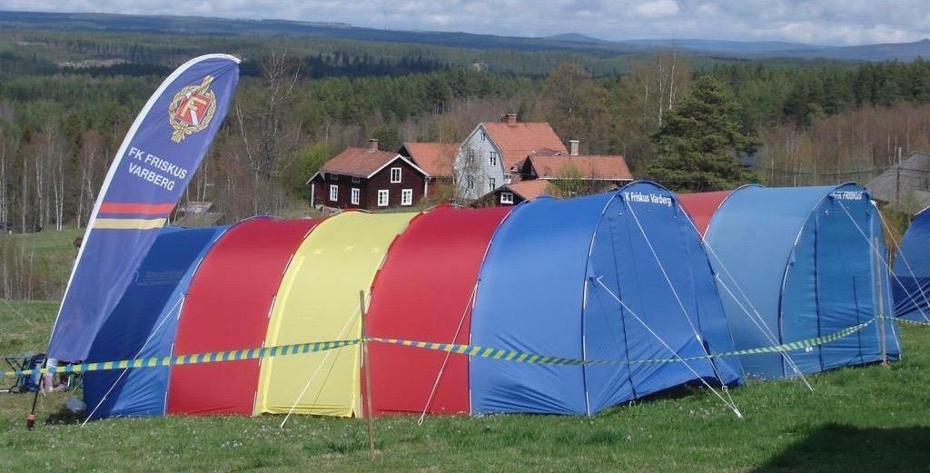 5 segments tält med fler färger