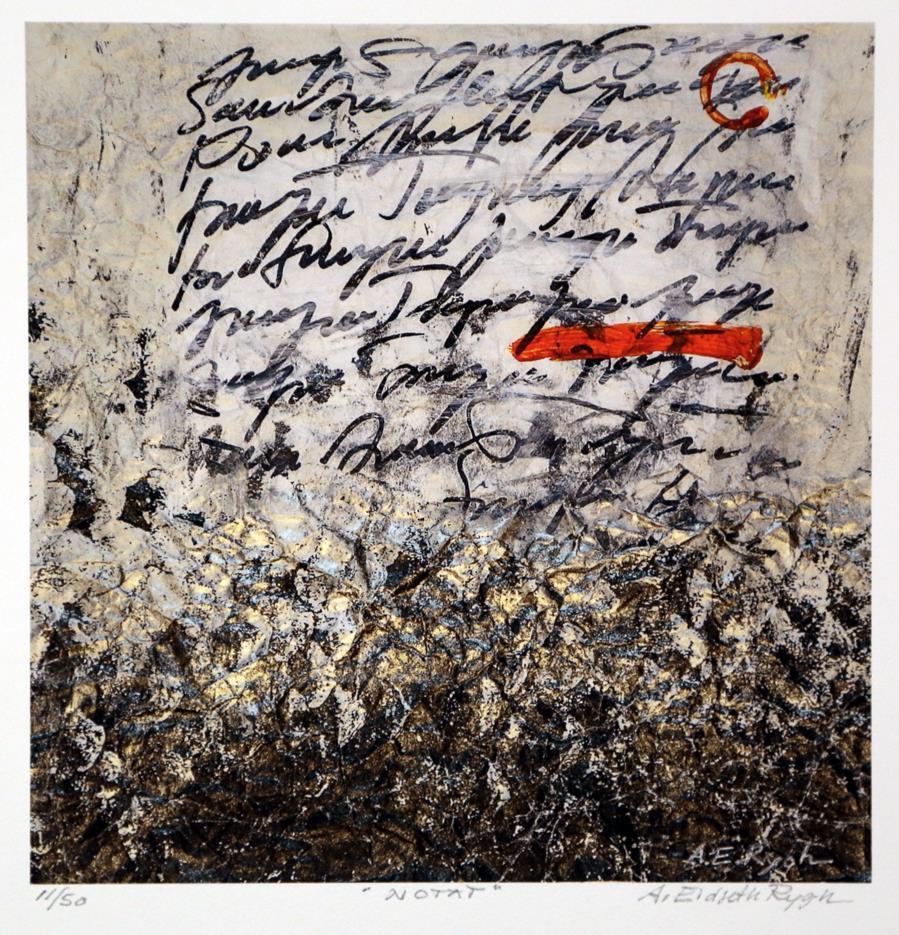 """""""Notat"""", litografi"""